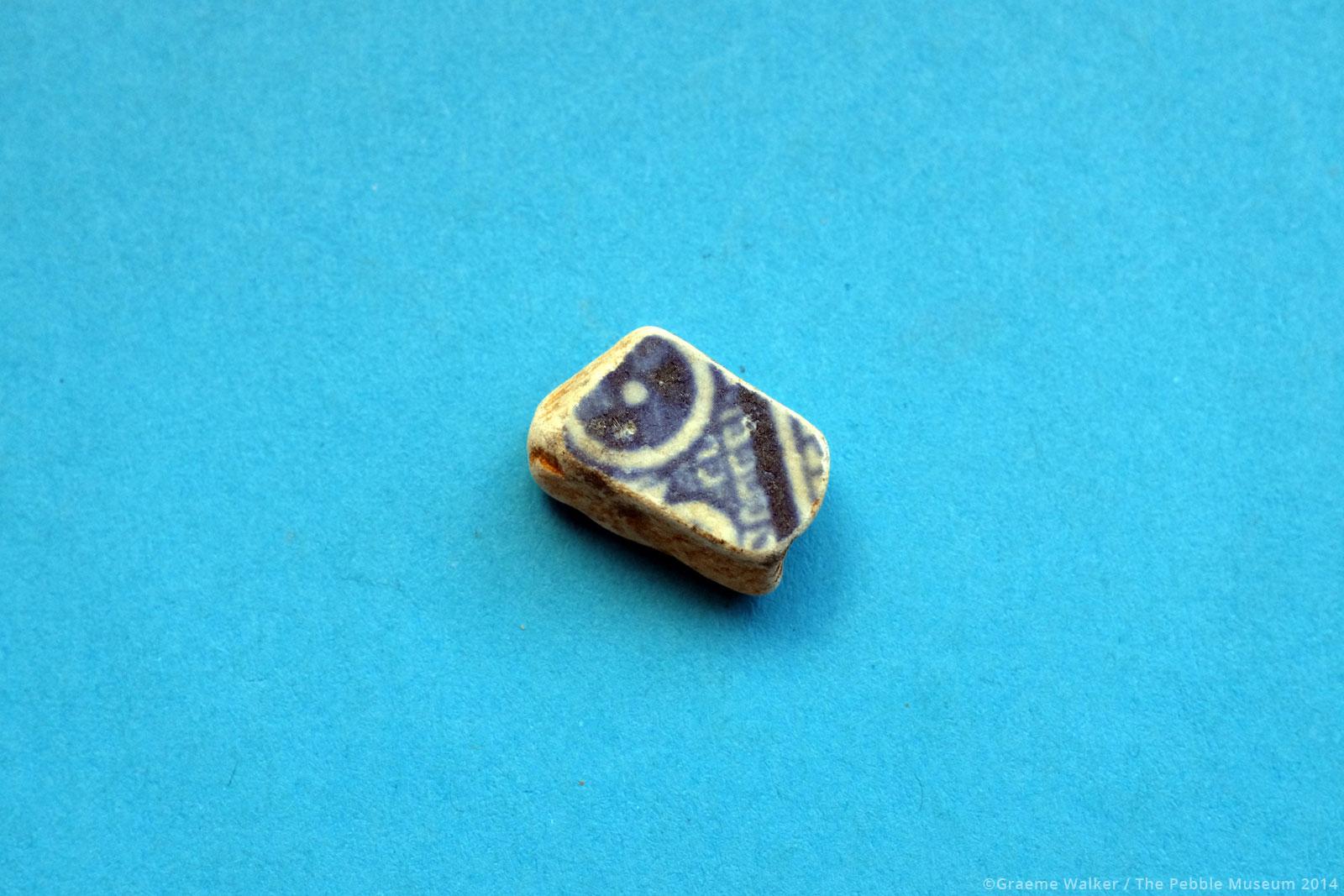 Blue and White Ceramic © Graeme Walker / The Pebble Museum 2019