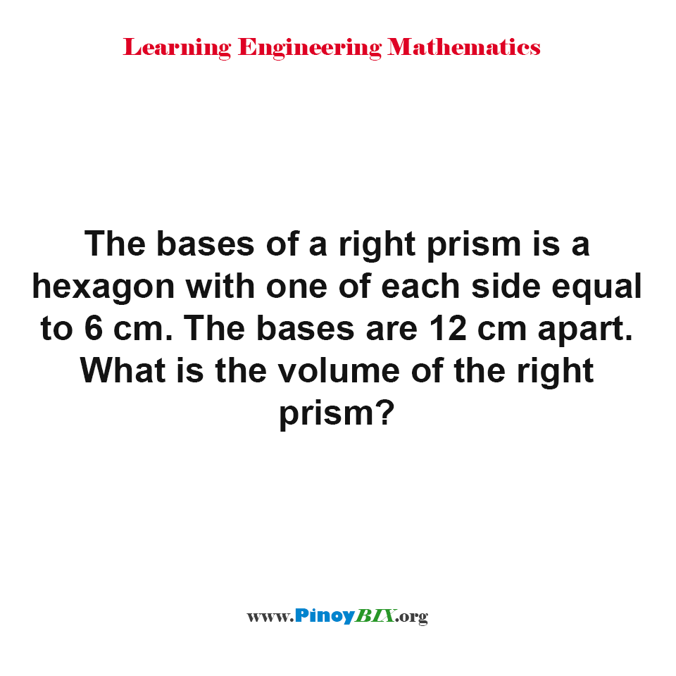 What is the volume of the right prism?
