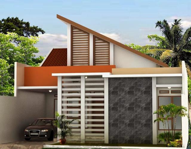 rumah dengan material unik