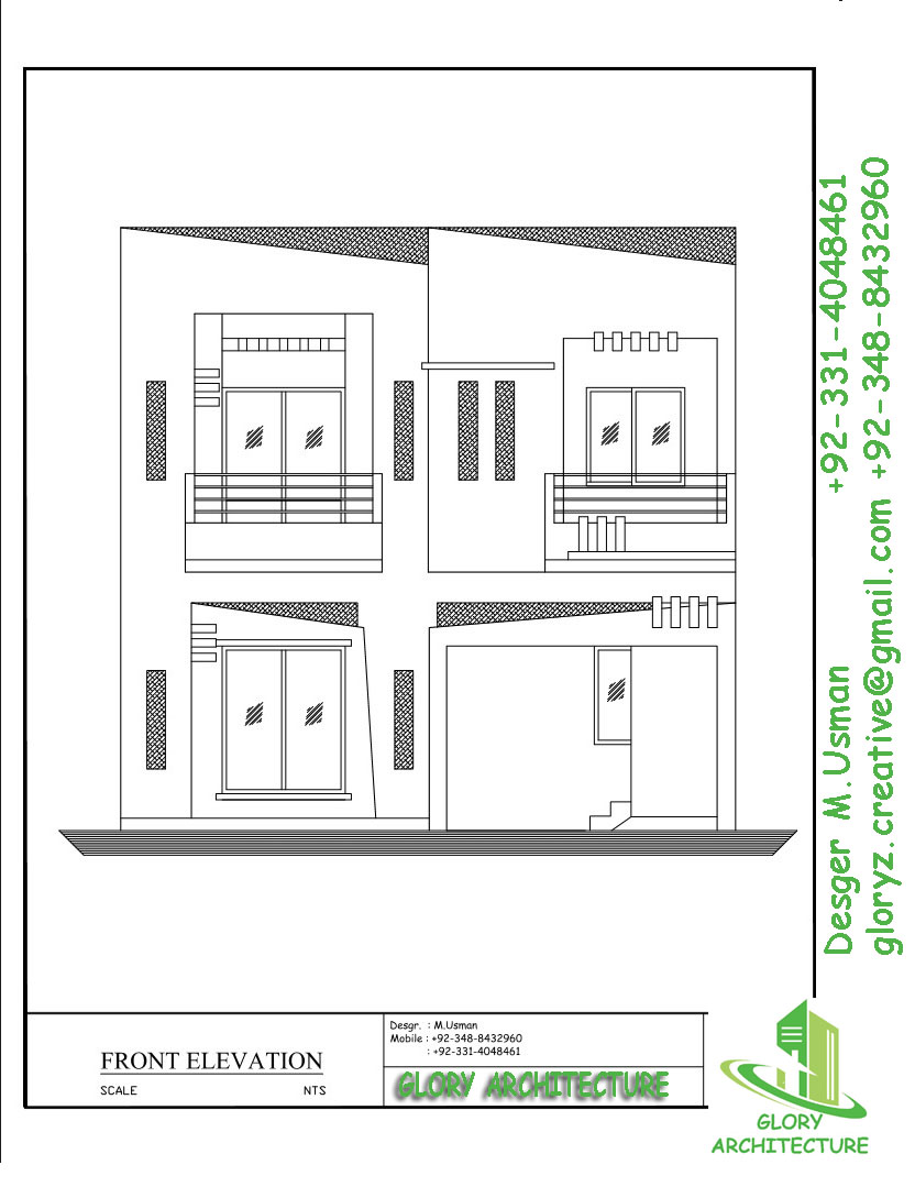 House Plan Elevation View : House plan elevation d view