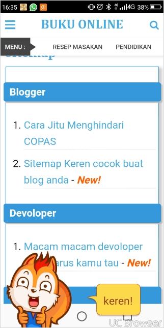 Sitemap Keren cocok buat blog anda
