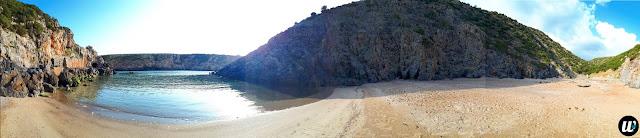 Cala Domestica La Caletta beach panorama, Buggerru | Sardinia, Italy | wayamaya