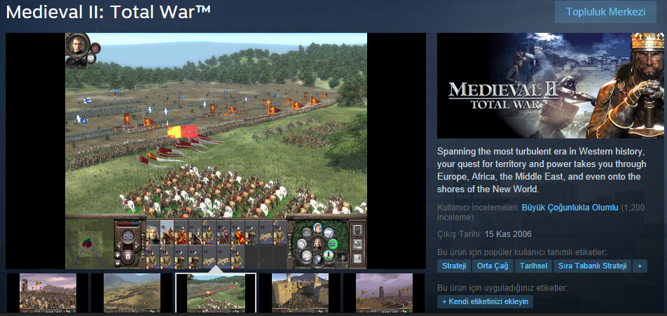 Medieval II: Total War Steam