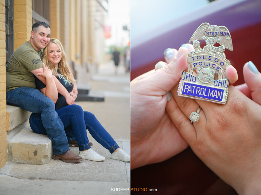 Toledo Police Wedding Engagement Pictures - by SudeepStudio.com Ann Arbor Wedding Photographer
