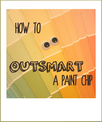 How to outsmart a paint chip paint color selection lesson 1 at The Red Chair Blog