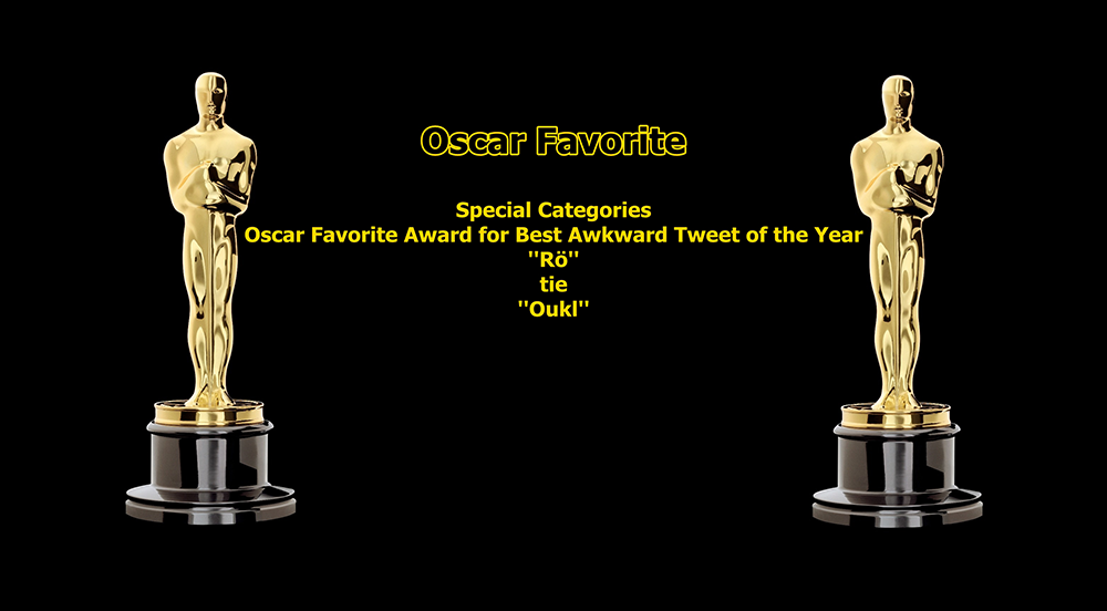 oscar favorite best awkward tweet award