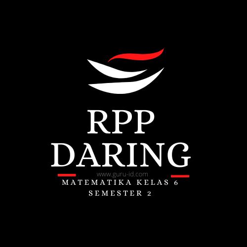 GAMBAR rpp matematika daring kelas 6 semester 2