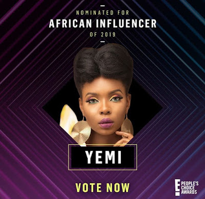Yemi Alade, Nigerian Artiste, people's choice awards