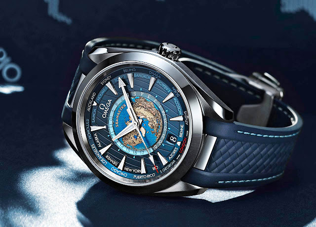 Omega Seamaster Aqua Terra Worldtimer in steel
