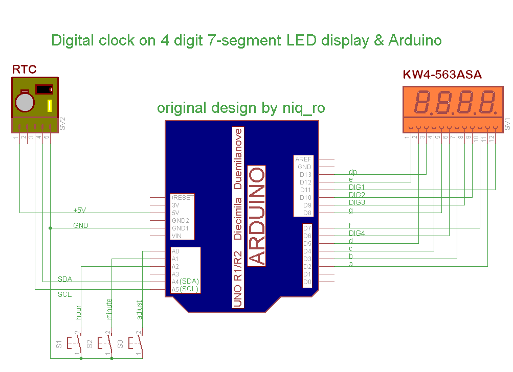 Arduino tehniq manual adjust for rtc clock with