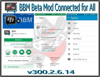 BBM BETA MOD CONNECTED V300.2.6.14 APK
