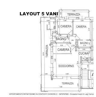 appartamento-5vani-vendita-Grosseto-stadio, planimetria