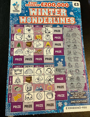 £3 Winter Wonderlines £10 Win