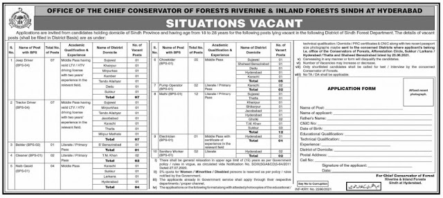 Forest and Wildlife Department Jobs 2021 Latest advertisement