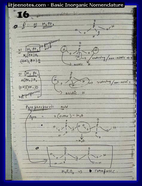 Inorganic Nomenclature Chemistry Notes Iitjee Part 1