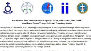 Jaksa Hentikan Tuntutan Kepada Nakes di Siantar, Ini Kata Para Pemimpin Gereja