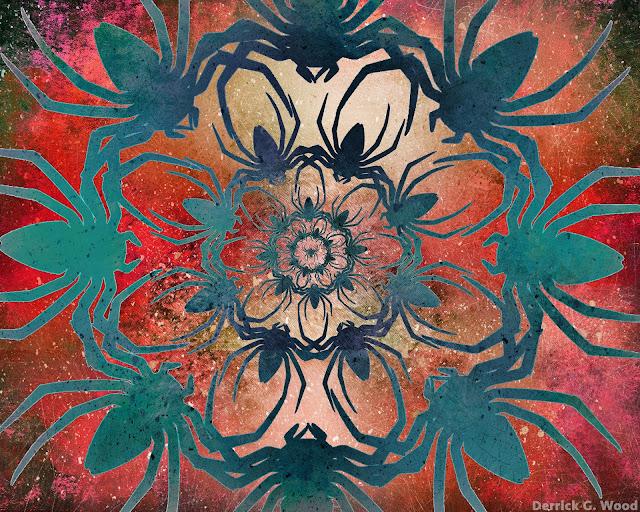 pretty spider art artwork photography mosaic collage