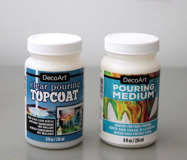 DecoArt Pouring Medium coasters