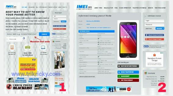 Situs imei.info untuk cek keaslian imei smartphone