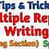 Multiple Report Writing System | Writing Section