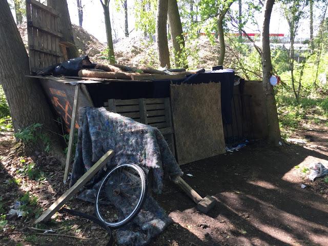 Een hut waar iemand in woont
