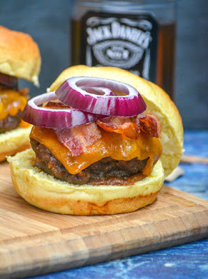 Grilling Bucket List - Pineapple Barbecue Whiskey Bacon Burger #Celebrate365