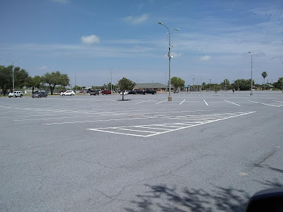 UTRGV parking lot with few cars