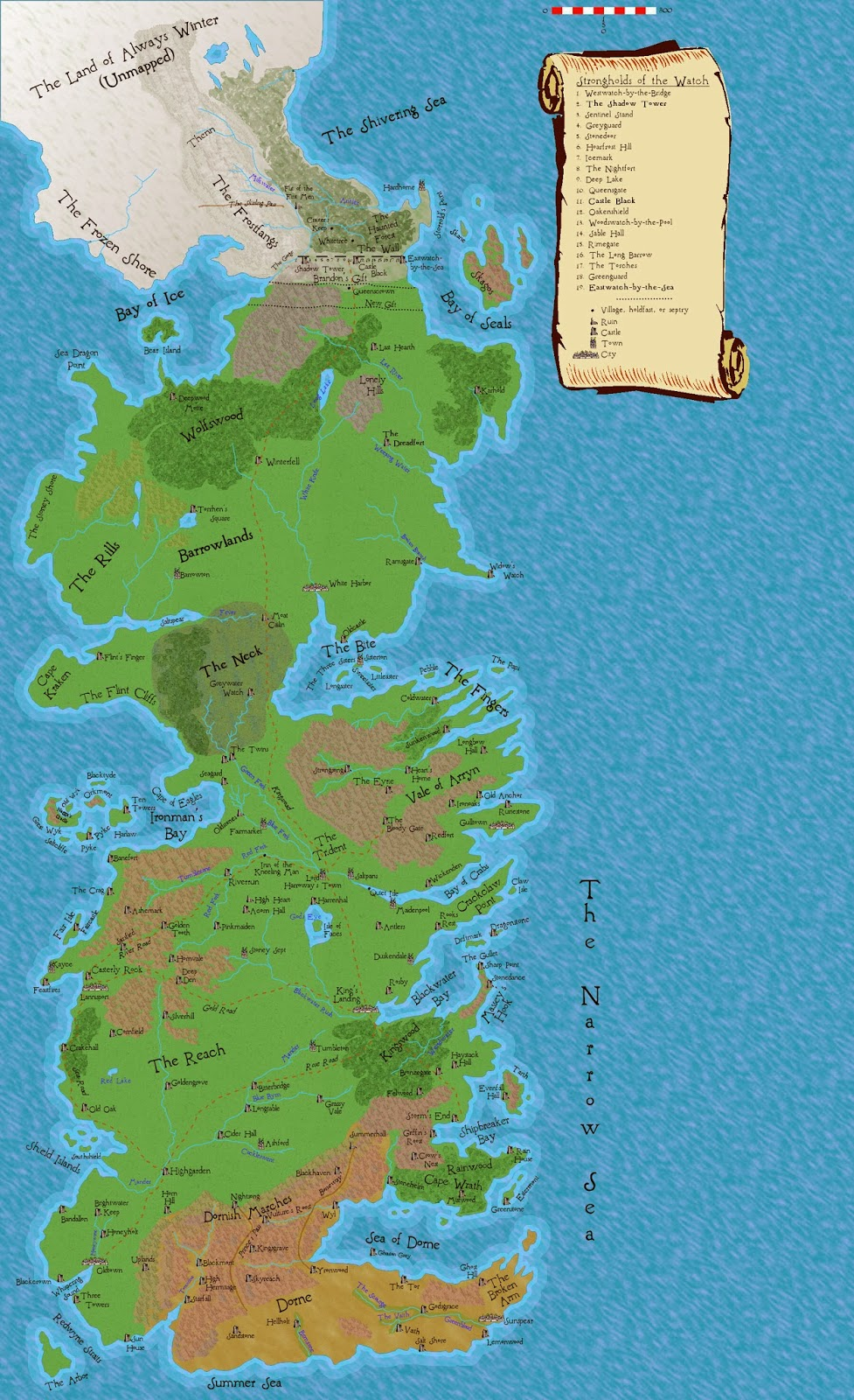 Nerdovore: More Maps of Westeros
