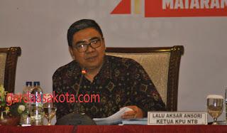 <b>KPU NTB Pastikan Tidak Ada Gugatan PPH Ke MK Terkait Pilkada NTB 2018</b>