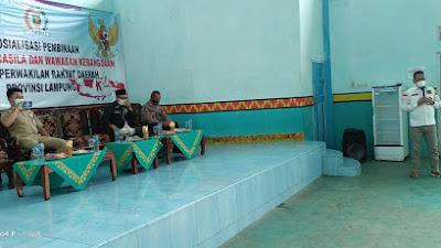Anggota DPRD Provinsi Lampung Fraksi PKB Soni Setiawan,S.T,M.H melakukan Sosialisasi Pembinaan Ideologi Pancasila