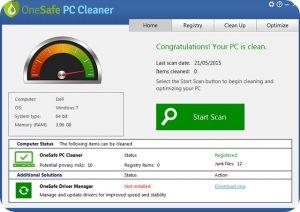 تحميل OneSafe PC Cleaner 5 مجانا لصيانة و تنظيف الكمبيوتر