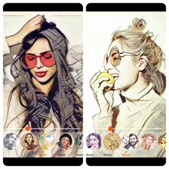 aplikasi edit foto dengan cartoonart pics photo editor