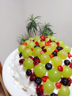 秋のフルーツケーキ♪ 息子の誕生日祝い