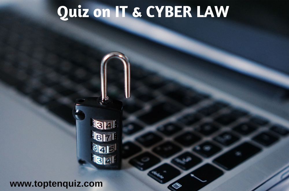 Information Technology and Cyber Laws MCQ