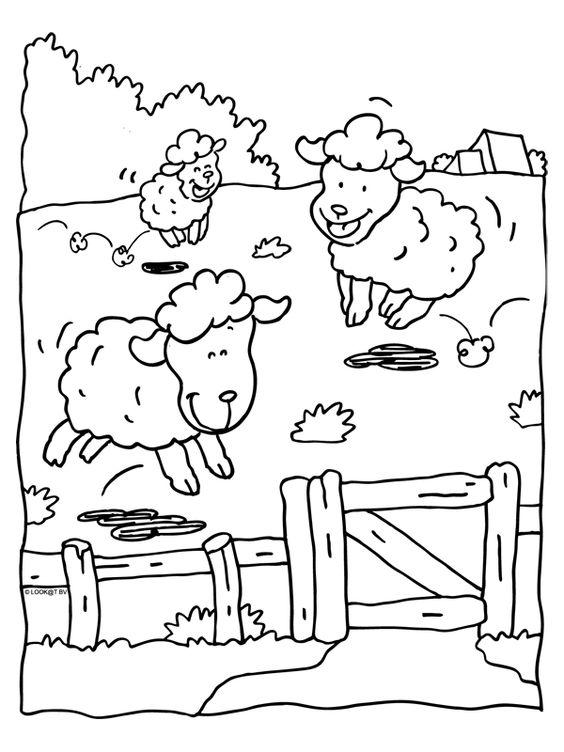 Hình tô màu ba chú cừu vui vẻ