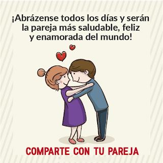 Las parejas deberían abrazarse tanto como sea posible
