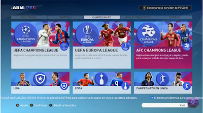PES 2017 New Graphic Menu by ARM Games
