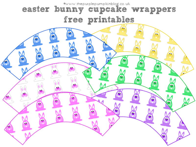 Here Come The Easter Bunnies Cupcake Wrappers – Free Printables
