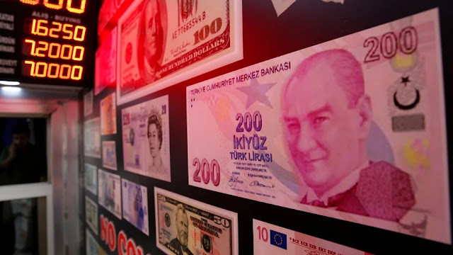 Turkish Lira in free fall against the Euros and Dollar