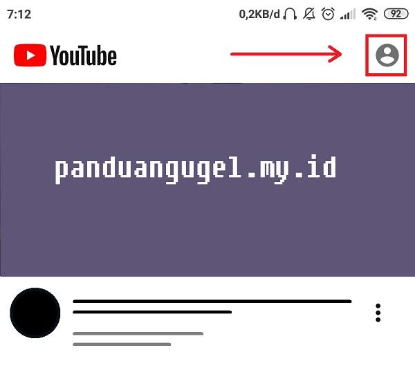 Klik ikon profil untuk melanjutkan login