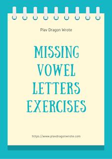 Missing Vowel Letters Exercises - Big Letters Logo