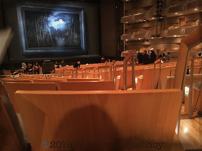 View of Rusalka stage from back of orchestra seating in Four Seasons Centre for the Performing Arts