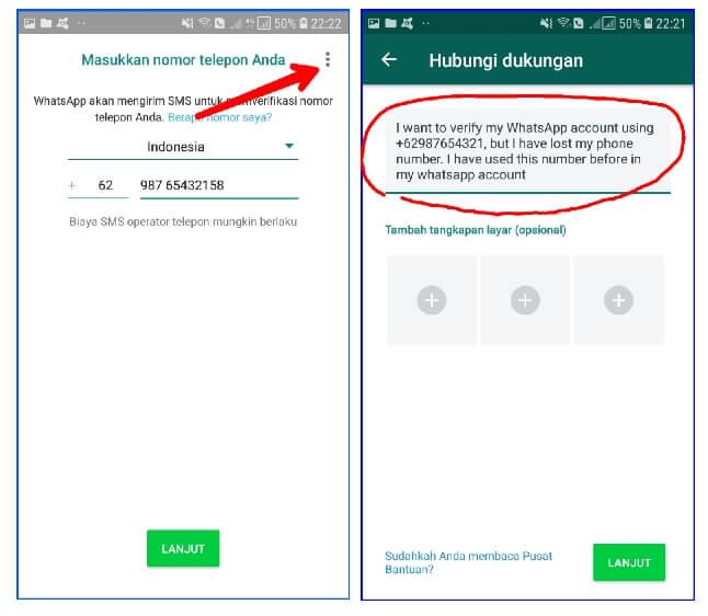 Cara aktivasi whatsapp tanpa nomor hp