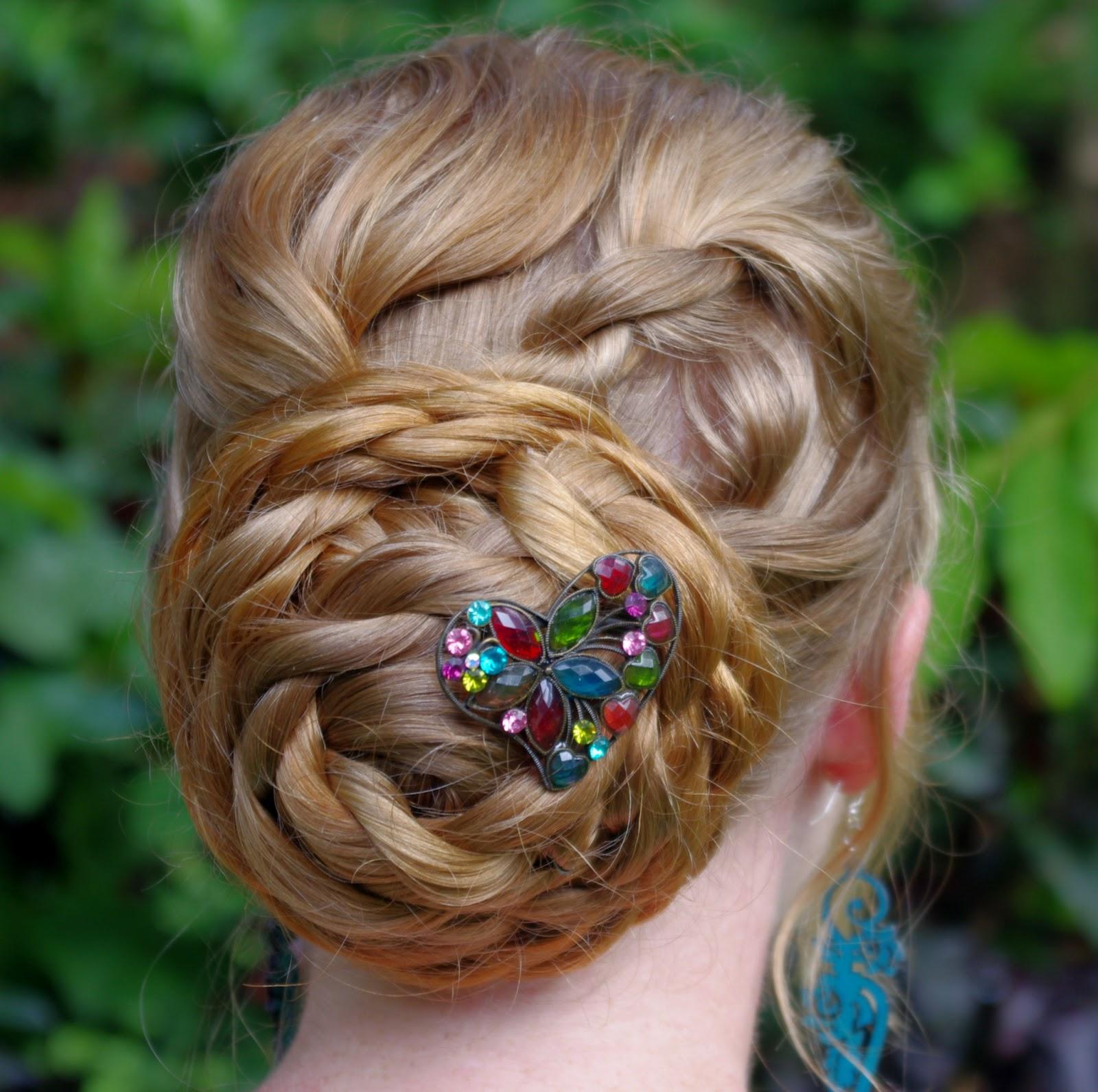 braids hairstyles for super long hair rope braid bun. Black Bedroom Furniture Sets. Home Design Ideas