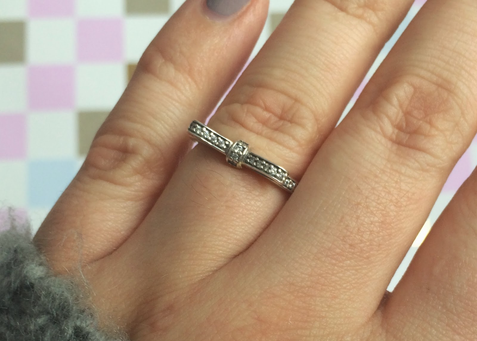 177f185e1 Pandora Rose Sparkling Bow With Clear Cz Ring