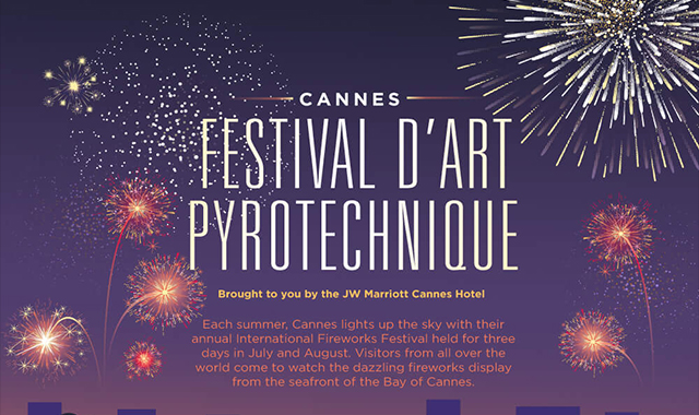 Pyrotechnic Festival cannes #infographic