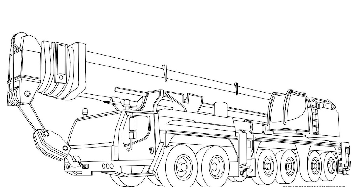 Liebherr Mobile Crane Coloring Page