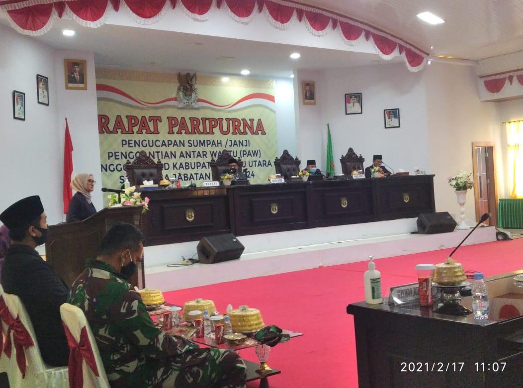 Pengucapan Sumpah dan Janji Anggota DPRD Kabupaten Luwu Utara,  Bupati Ucapkan Terimakasih