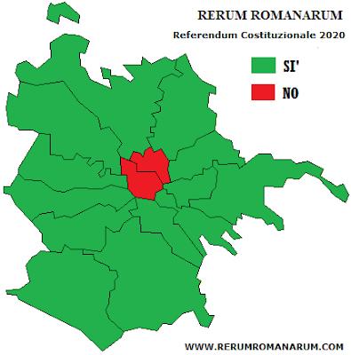 Referendum 2020 mappa Municipi Roma