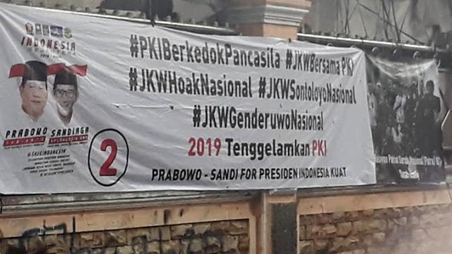 Spanduk #JKWBersamaPKI, Polisi Janji Mundur Jika Ranah Pemilu